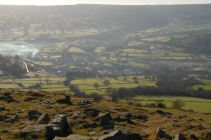 Crickhowell from Crug Hywel